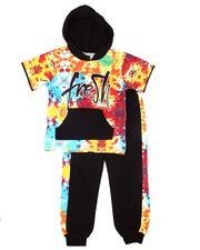 Boys - 2 Pc Hooded Tee & Jogger Pants Set (4-7)-2604590