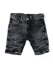 Jeans - Washed Stretch Moto Denim Shorts (2T-4T)-2616479