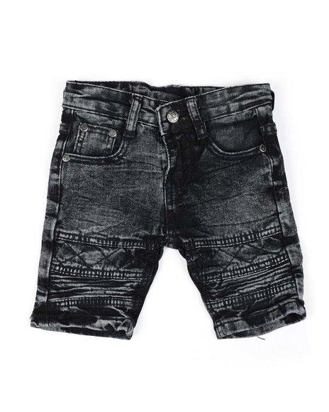 Phat Farm - Washed Stretch Moto Denim Shorts (2T-4T)