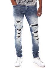 Jordan Craig - Ripped Jean with Vegan Leather Ribbed repair-2615497