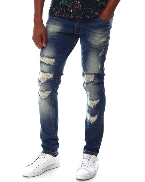 Buyers Picks - Ripped Jean w Quilted Stitching