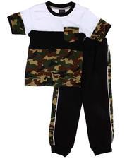 Boys - 2 Pc Camo Tee & Jogger Pants (4-7)-2604025