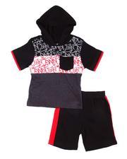 Arcade Styles - 2 Pc Graffiti Hooded Tee & Shorts Set (2T-4T)-2606137