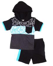 Boys - 2 Pc Graffiti Hooded Tee & Shorts Set (Infant)-2606150