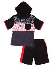 Boys - 2 Pc Graffiti Hooded Tee & Shorts Set (Infant)-2606154
