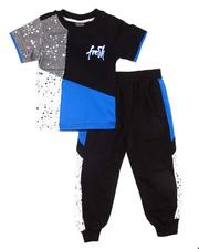 Boys - 2 Pc Paint Splatter Tee & Jogger Pants Set (Infant)-2606162