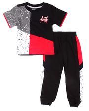 Infant & Newborn - 2 Pc Paint Splatter Tee & Jogger Pants Set (Infant)-2606249