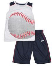 Boys - 2 Pc Sports Muscle Tank & Short Set (4-7)-2614773