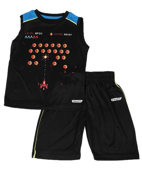 HIND - 2 Pc Sports Muscle Tank & Shorts Set (4-7)