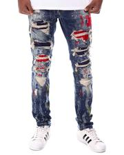 SMOKE RISE - COLOR PATCHED & SPLATTER JEAN-2615286