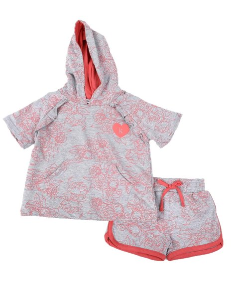Kensie Girl - 2 Pc Suzette Hoodie & Shorts Set (4-6X)