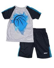 Boys - 2 Pc Raglan Tee & Shorts Set (4-7)-2615448