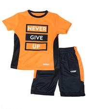 HIND - 2 Pc Two Tone Tee & Shorts Set (4-7)-2615493
