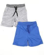Shorts - 2 Pk Marled & Solid Fleece Shorts (2T-4T)-2616395