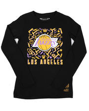 Mitchell & Ness - Los Angeles Lakers Long Sleeve T-Shirt (8-20)-2616421