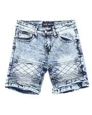 Phat Farm - Washed Stretch Moto Denim Shorts (4-7)-2616496