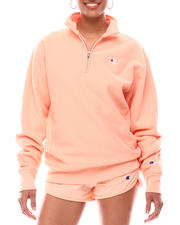 Women - Oversized Reverse Weave 1/4 Zip Pullover-2616669