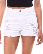 Women - Distress Denim Shorts-2617042