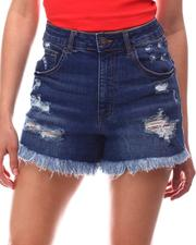 Women - Distressed Raw Hem Denim Shorts-2617071
