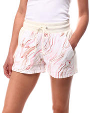 Bottoms - Marble Print Reverse Weave Short-2616674