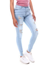 Women - Distressed Skinny Jeans W/Raw Hem-2616981