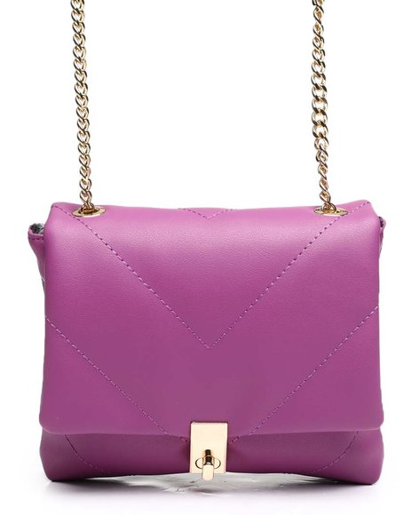 Fashion Lab - Turn Lock Quilted Mini Crossbody Bag