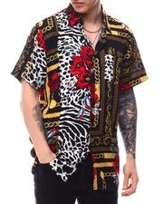 Spring-Summer - Floral & Chains Woven Shirt-2617540