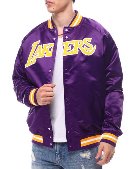 Mitchell & Ness - LOS ANGELES LAKERS Lightweight Satin Jacket