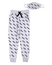 Bottoms - All Over Drip Print Joggers W/ Matching Mask (4-7)-2606124