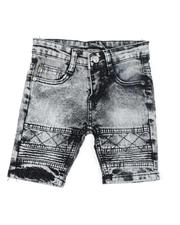 Shorts - Washed Stretch Moto Denim Shorts (2T-4T)-2619081