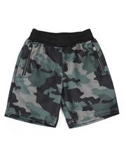 Bottoms - Camo Print Zip Detail Scuba Shorts (8-18)-2619140