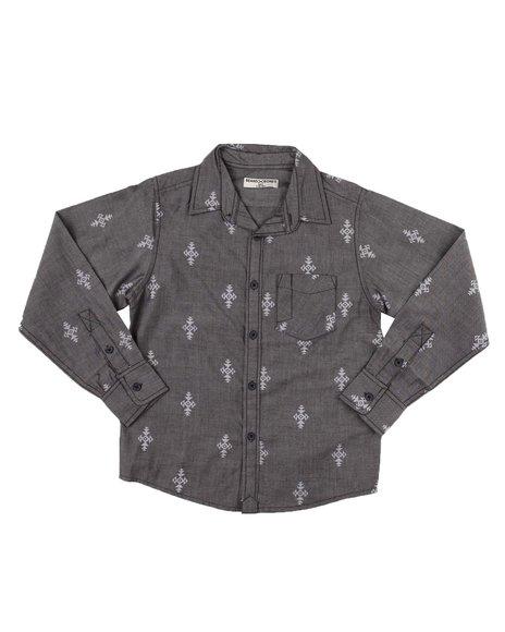 Arcade Styles - Printed Long Sleeve Button Down Shirt (8-18)