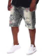 Makobi - Shredded Denim Shorts (B&T)-2619356