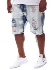 Makobi - Shredded Denim Shorts (B&T)-2619376