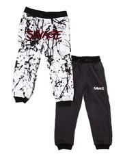 Sweatpants - 2 Pack Solid & Printed Jogger Pants (4-7)-2606876