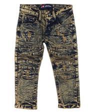 Jeans - Stretch Cut & Sew Rip + Repair Moto Denim (2T-4T)-2607486