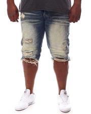 SMOKE RISE - Raw Hem Denim Shorts (B&T)-2619490