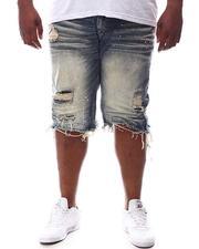 SMOKE RISE - Raw Hem Denim Shorts (B&T)-2619496