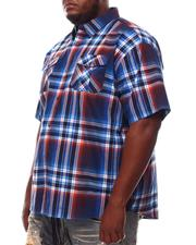 Button-downs - Yarn Dyed Plaid Short Sleeve Shirt (B&T)-2609760