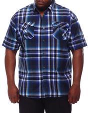 Button-downs - Yarn Dyed Plaid Short Sleeve Shirt (B&T)-2609764
