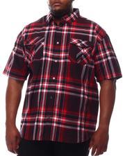 Button-downs - Yarn Dyed Plaid Short Sleeve Shirt (B&T)-2609793