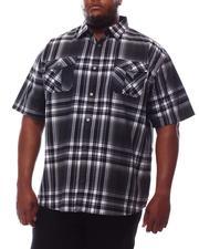 Button-downs - Yarn Dyed Plaid Short Sleeve Shirt (B&T)-2609797