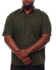 Button-downs - Solid Short Sleeve Woven Button Up Shirt (B&T)-2614251