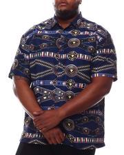 Button-downs - Printed Short Sleeve Woven Button Up Shirt (B&T)-2614266