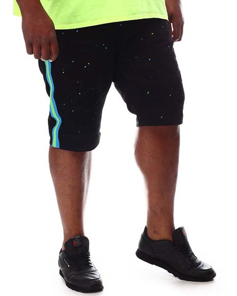 Makobi - Biker Shorts With Side Tape & Paint Splatter (B&T)