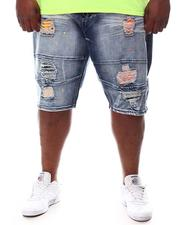 Makobi - Shredded Denim Shorts (B&T)-2619380