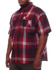 Button-downs - Yarn Dyed Plaid Short Sleeve Shirt (B&T)-2609776