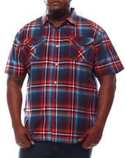 Button-downs - Plaid Short Sleeve Woven Shirt (B&T)-2609801