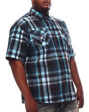Button-downs - Yarn Dyed Plaid Short Sleeve Shirt (B&T)-2609780