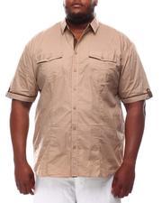 Button-downs - Polka Dot Woven Button Up Shirt (B&T)-2614297